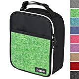 OPUX Premium Thermal Insulated Mini Lunch Bag | School Lunch Box For Boys, Girls, Kids, Adults | Soft Leakproof Liner | Compact Lunch Pail for Office (Heather Green)