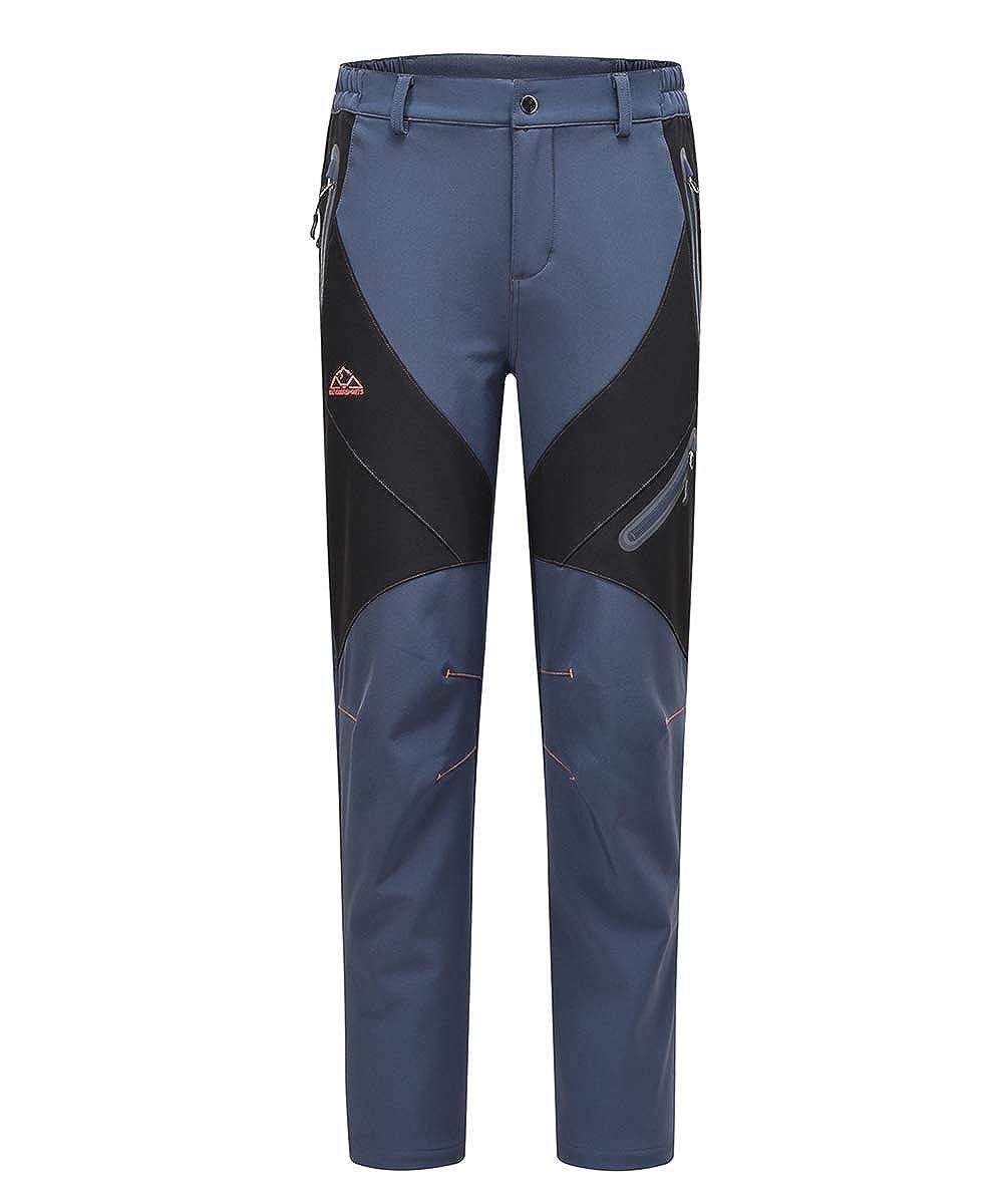 Gopune Womens Winter Hiking Ski Snowboarding Pants Winter Waterproof Softshell Insulated Pants