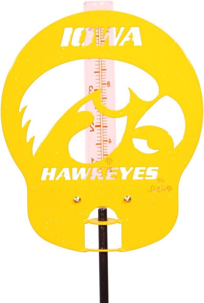 SWEN Products IOWA HAWKEYES Yellow Rain Gauge