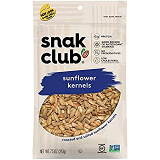 Snak Club All Natural Sunflower Kernels, Non-GMO, 7.5-Ounces, 6-Pack