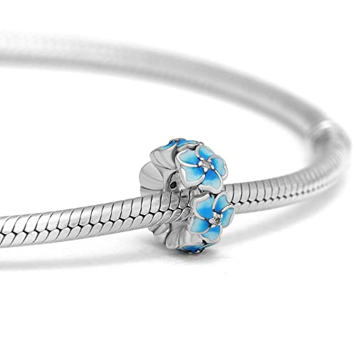 308a43922 Amazon.com: Floral Charms Fit Pandora Bracelet- Authentic 925 Sterling  Silver Colorful Enamel Flower Series Charm Beads Jewelry Making for Women  Girls ...