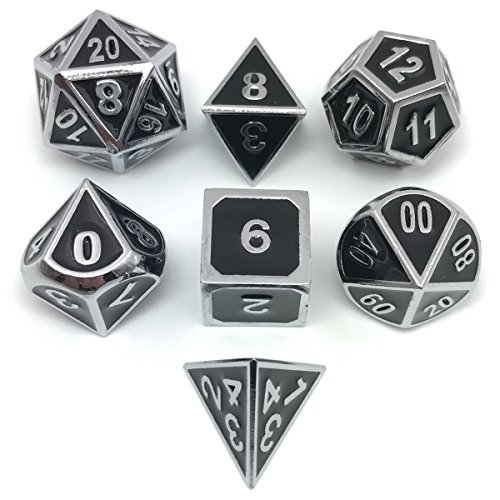 d and d metal dice set - 6