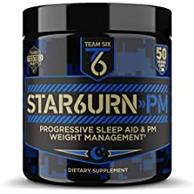 T6 STAR6URN-PM – Fat Burner and Sleep Aid for Muscle-Preserving Weight Loss and Stress Relief, Green Coffee Bean and Garcinia Cambogia Extract, 50 veggie caps