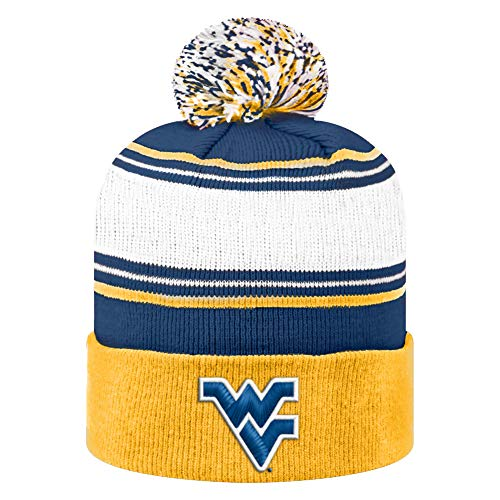 Top of the World NCAA West Virginia Mountaineers Men's Elite Fan Shop Winter Knit Ambient Warm Hat, Gold
