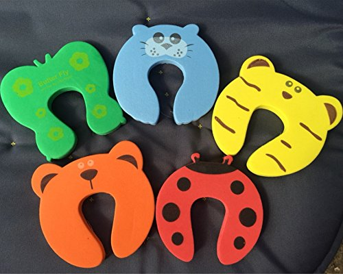 10pcs/lot Kids Baby Cartoon Animal Jammers Stop Edge Corner Guards Door Stopper Holder Lock Baby Safety Finger Protector by Samy Best (Image #4)