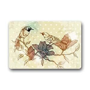 Se puede lavar a máquina Felpudo pájaro decoración de interior/al aire libre alfombra Felpudo 30(L) X 18(W) pulgadas