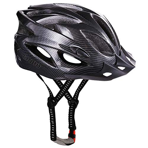 GIORO Ultralight Adult Cycling Bike Helmet for Men Women Specialized Road Urban Mountain Bicycle Safety Protection Certified with Removable Visor and Quick Release Adjustable Strap (Black)