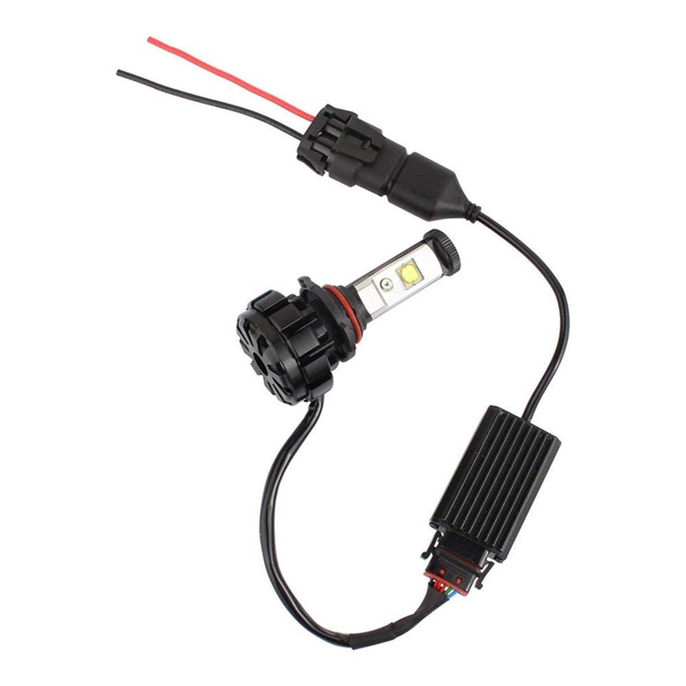 Pack of 2 H4//9003 H4 Wiring Harness Headlight Socket Heavy Duty 14AWG Ceramic Headlight Plug For Car Truck Boat Marine Headlight Fog Light Retrofit