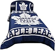 Nemcor NHL Toronto Maple Leafs 4 Piece Twin Kids Bedding Set Includes Reversible Comforter, Flat Sheet, Fitted
