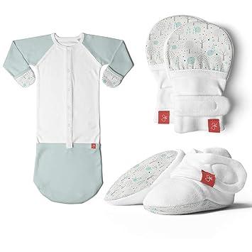 super popular f8888 596cc Newborn Baby Mittens, Booties & Sleep Sack Pajamas Bundle, Organic, Soft &  Adjustable (Magical...