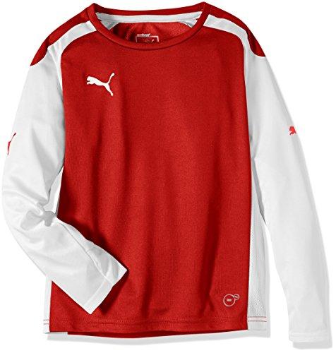 PUMA Kinder Langarmshirt Speed Long Sleeve Shirt, Puma Red/White, 140, 701909 01