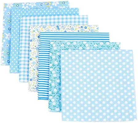 Henmoss 花柄プリント 生地 可愛い はぎれセット 人気 裁縫 DIY 手芸用 布 素材 パッチワーク 給食袋、ポーチなどの作りに (7枚 25cm x 25cm)