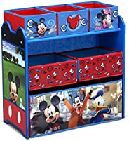 Delta Children Mickey Mouse 6 Bin Design and Store Toy Organizer