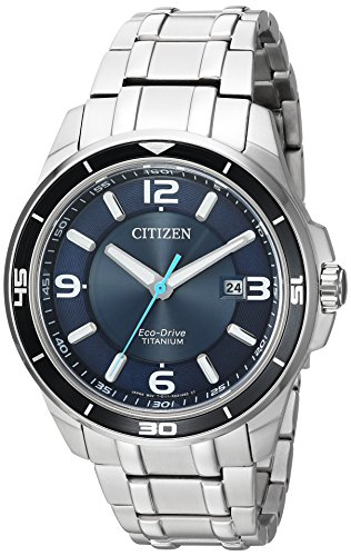Citizen Men's Eco-Drive Titanium Watch with Date, BM6929-56L (Watch 56l)