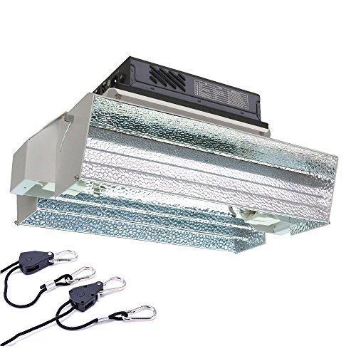 Vegalumax Double Ended Grow Light Fixture E-Star Reflector,With Ballast 400/600/1000 Watt (2 Reflective 1 Fire Glass)