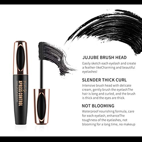 Amazon.com: Leewa Fiber Mascara Waterproof Smudgeproof HypoallergenicLong Curling Natural Midnight Black Makeup Mascara (black): Sports & Outdoors