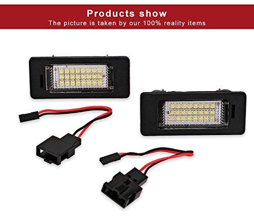 (2Pcs Car Led License Plate Lights For Audi A4 Canbus Led Number Plate Light Lamp Bulbs For Audi Q5 A4 TT TTS TTRS A5 A6 A7)