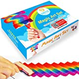 Watercolor Rainbow Magic Art Set for Girls and Boys Ages 7-12 – Kids Art Kit with 6 Sponge Brushes