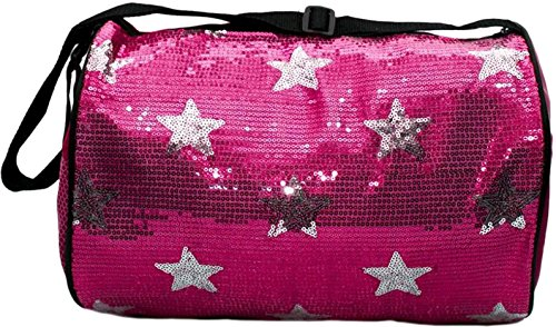 Girls Dance Bag Duffle Sequin Star Bag Pink