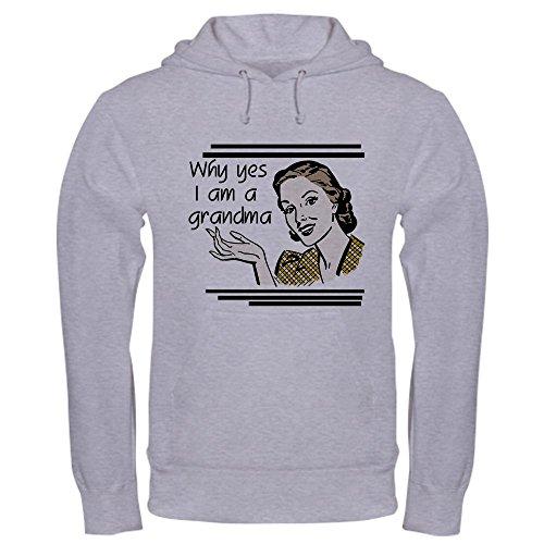 CafePress Retro Grandma Pullover Hoodie, Classic & Comfortable Hooded Sweatshirt Heather Grey ()