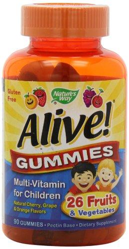 Le chemin de Natur - Alive! Multi-Vitamin Gummies pour enfants - 90 Chew