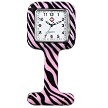 Lancardo Medical Nurse White Scrub Brooch Fob Nurse Watches for Women Girls for Infections Control (Pink)