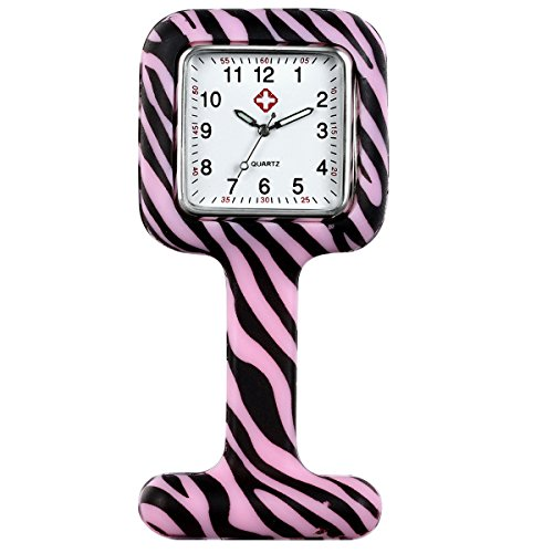 Wholesale Pocket Watch New - Lancardo Medical Nurse White Scrub Brooch Fob Nurse Watches for Women Girls for Infections Control (Pink)