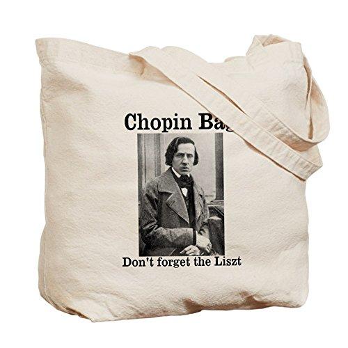CafePress–Chopin gamuza de bolsa–bolsa de lona bolsa, bolsa de la compra Small caqui