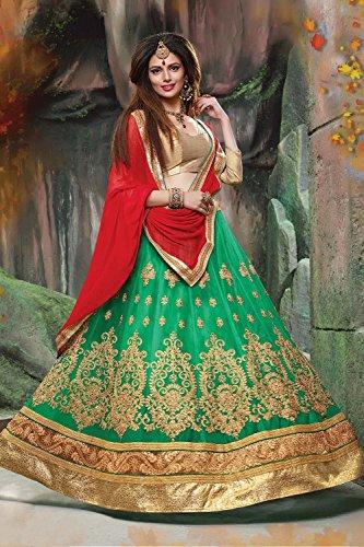 Da Facioun Indian Women Designer Wedding Green Lehenga Choli Fabz-2072