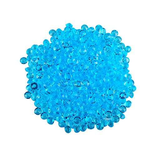 Wadoy Diamond Table Confetti Decoration for Wedding Party Bridal Shower - 2000PCS 4.5mm Dark Turquoise