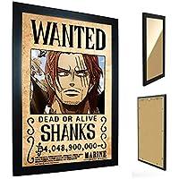 Quadro C/Moldura One Piece - Cartaz de Procurado Shanks