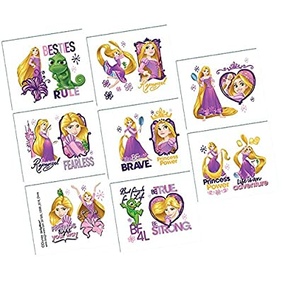 Amscan Tangled Temporary Tattoos Birthday Party Favours (8 Pack): Toys & Games