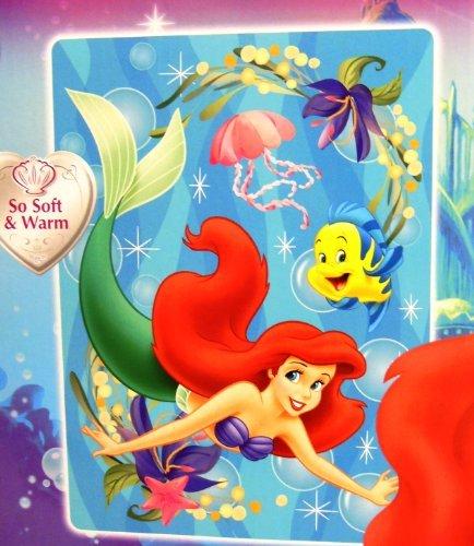 little mermaid twin plush blanket