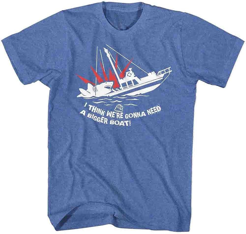 Jaws 1970s Shark Thriller Spielberg Movie Bigger Boat Adult T-Shirt Tee