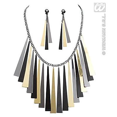 Aptafêtes AC5402 - Set bijoux égyptienne collier et boucles