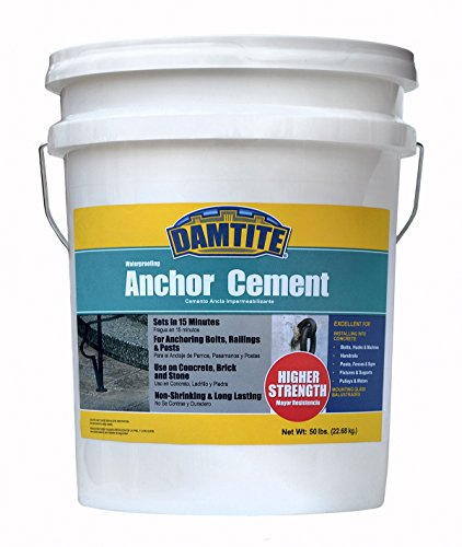 (Damtite 08502 Gray Anchor Cement, 50 lb. Pail)