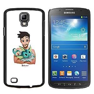 YiPhone /// Prima de resorte delgada de la cubierta del caso de Shell Armor - Hombre Pet Amigos animal lindo del dibujo del arte - Samsung Galaxy S4 Active i9295