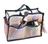 Vercord Mesh Thin Handbag Tote Pocketbook Insert Organizer In Bag With Handle 2 Sizes, Beige M