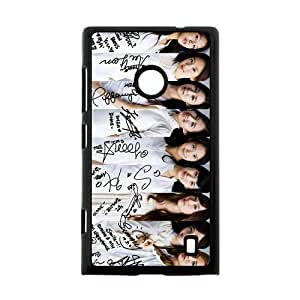 South Korea Hot Beautiful Girls Band&Girls' Generation Theme Case Cover for Nokia Lumia 520- Personalized Hard Cell Phone Back Protective Case Shell-Perfect as gift
