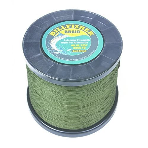 Image of Artificial Bait Billfisher BB3000-80 Braid, 80 lb/3000 yd, Dark Green