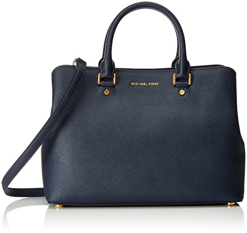 MICHAEL Michael Kors Women's Savannah Lg Satchel Admiral Handbag