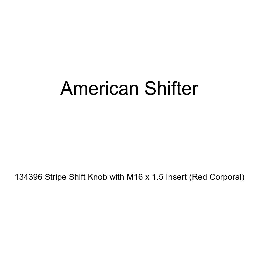 Red Corporal American Shifter 134396 Stripe Shift Knob with M16 x 1.5 Insert