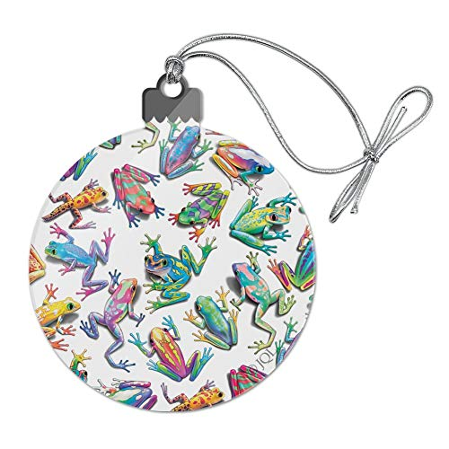 (GRAPHICS & MORE Rainbow Rainforest Frogs Sticky Fingers Pattern Acrylic Christmas Tree Holiday Ornament)