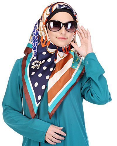 Modest Forever Vibrant Stripes & Dots Summer Casual Hijab by Modest Forever