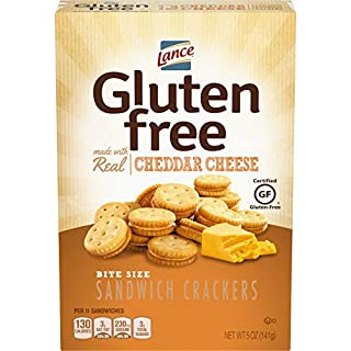 Lance Gluten Free Sandwich Crackers, Cheddar Cheese Bite Sized, 5 Ounce, 4 Count
