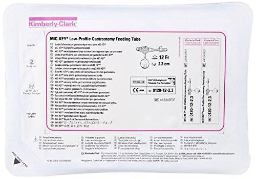 (Halyard Health 0120-12-2.3 MIC-Key Gastrostomy Feeding Tube, Low Profile, Sterile, 12 FR Outer Diameter, 2.3 cm Stoma Length, Silicone)