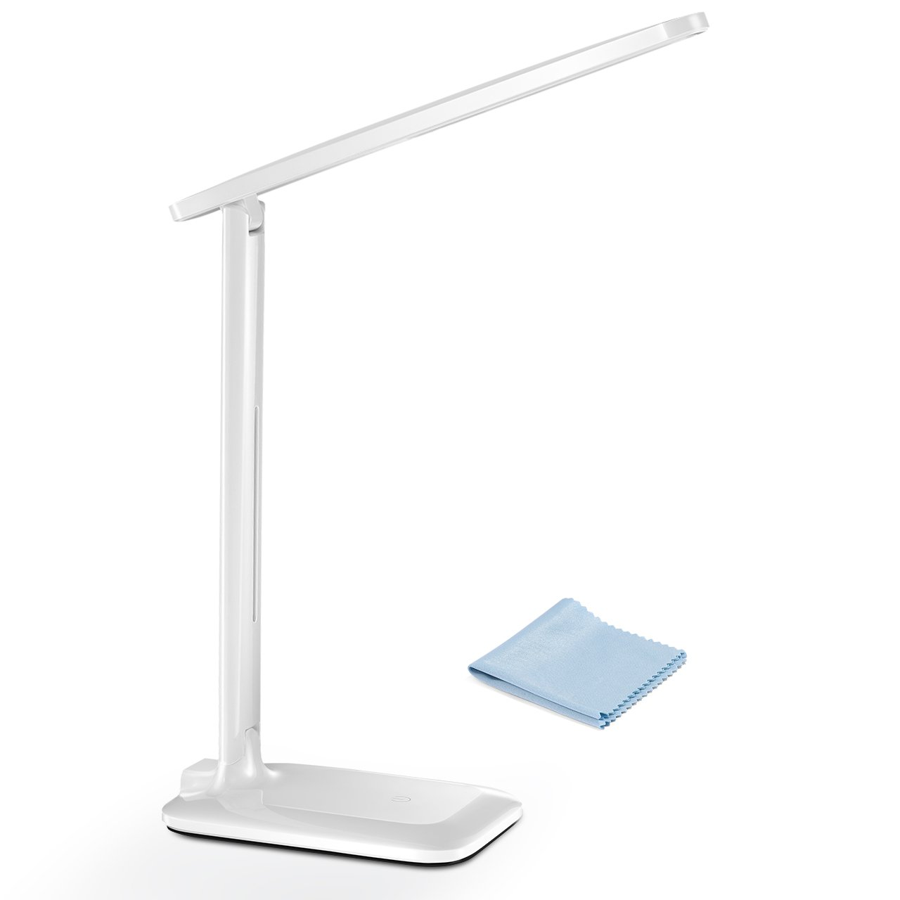 Desk Lamp, TOPELEK Eye-caring LED Table Lamp with 9 Lighting Modes, Warm/Cold Light Adjustable, Touch Control, Memory Function, Flexible Arm for Office, Home, Reading, Studying-White HPGEHM234AWUS-CAAS1