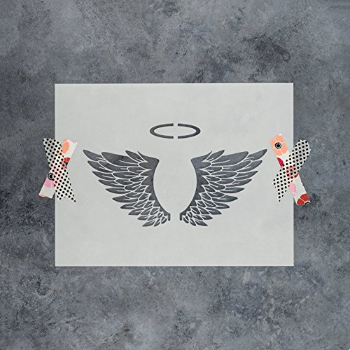 Angel Wings Stencil Template - Reusable Stencil with Multiple Sizes Available - Angel Wings Templates