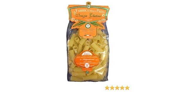 Amazon.com : La Fabbrica Della Pasta Gluten Free Rigatoni 500 Grams (1.1 lb) Bag : Grocery & Gourmet Food