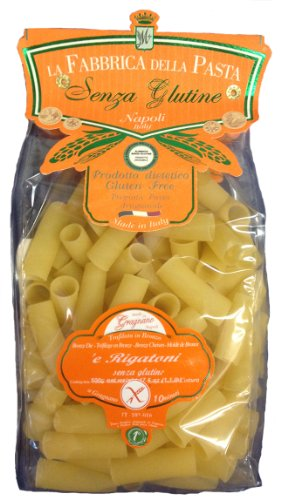 La Fabbrica Della Pasta Gluten Free Rigatoni 500 Grams (1.1 lb) Bag Pack of 2 (Gluten Free Pasta From Italy compare prices)